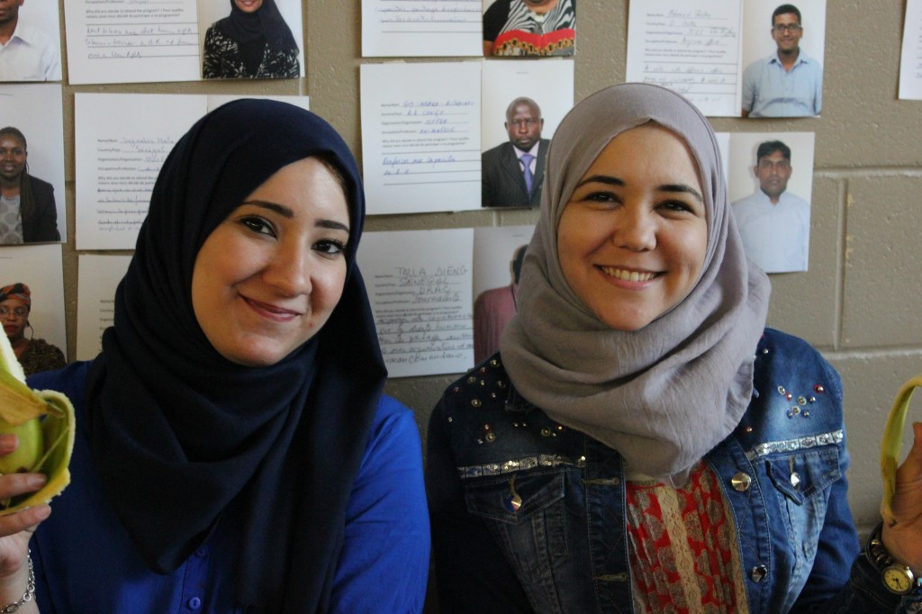 Tasneem and Maria at 2015 Equitas' IHRTP