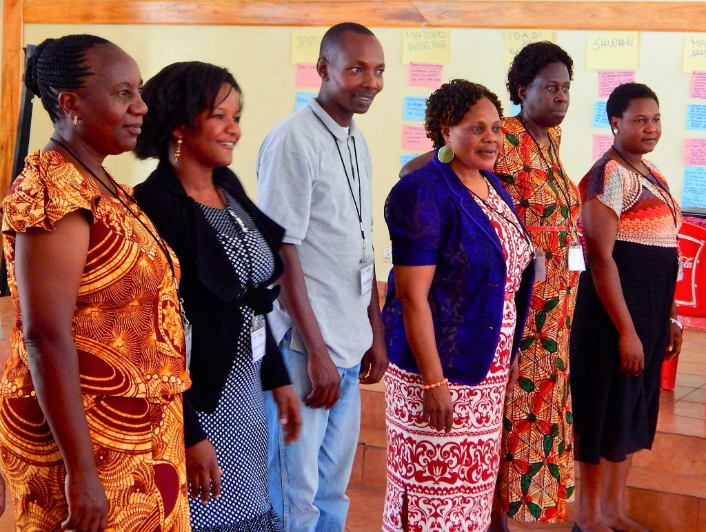 Participants in Tanzania at an Equitas human rights education training