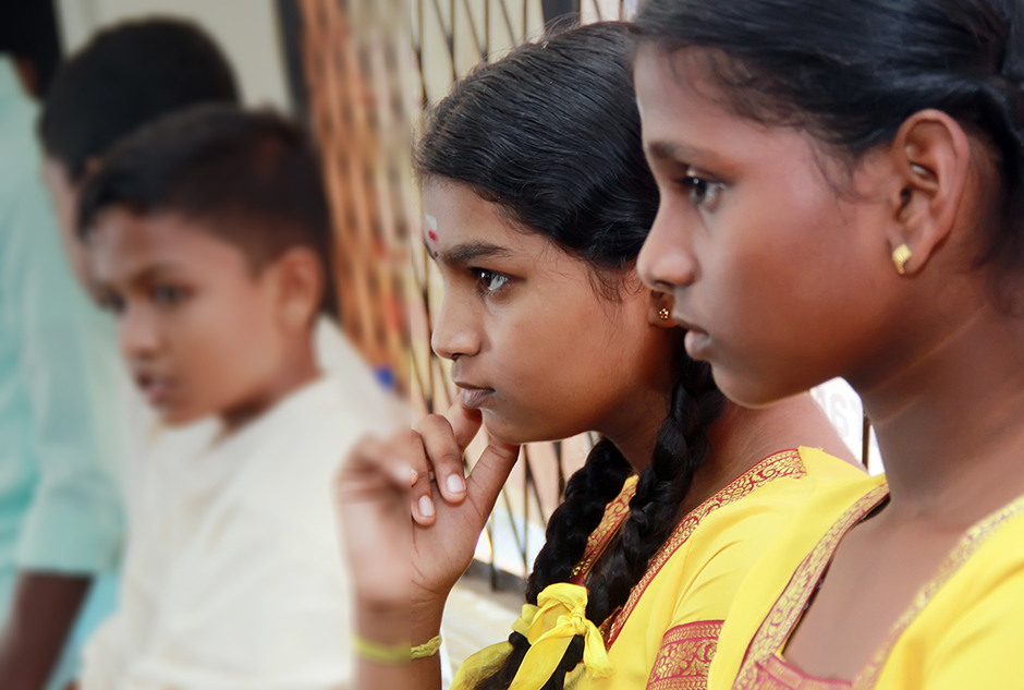 Children and youth in Sri Lanka during an Equitas human rights education training to promote religious harmony in Sri Lanka