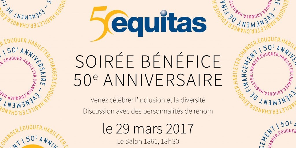 50th ANNIVERSARY FUNDRAISING EVENT IN MONTREAL – MARCH 29, 2017