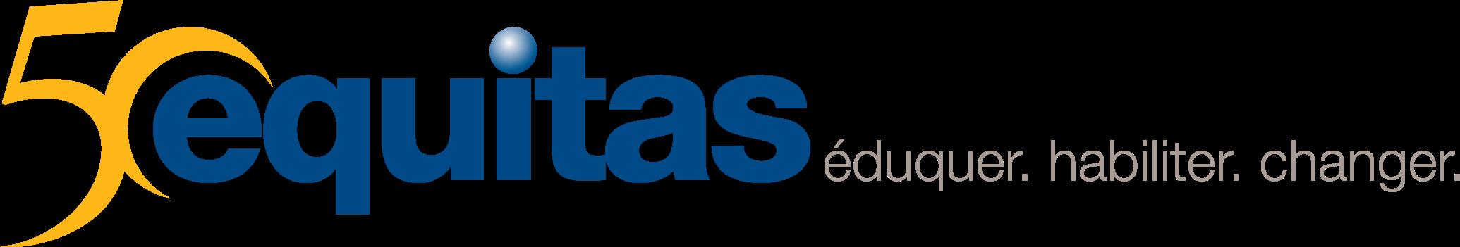 logo 50e anniversaire Equitas éduquer habileter changer