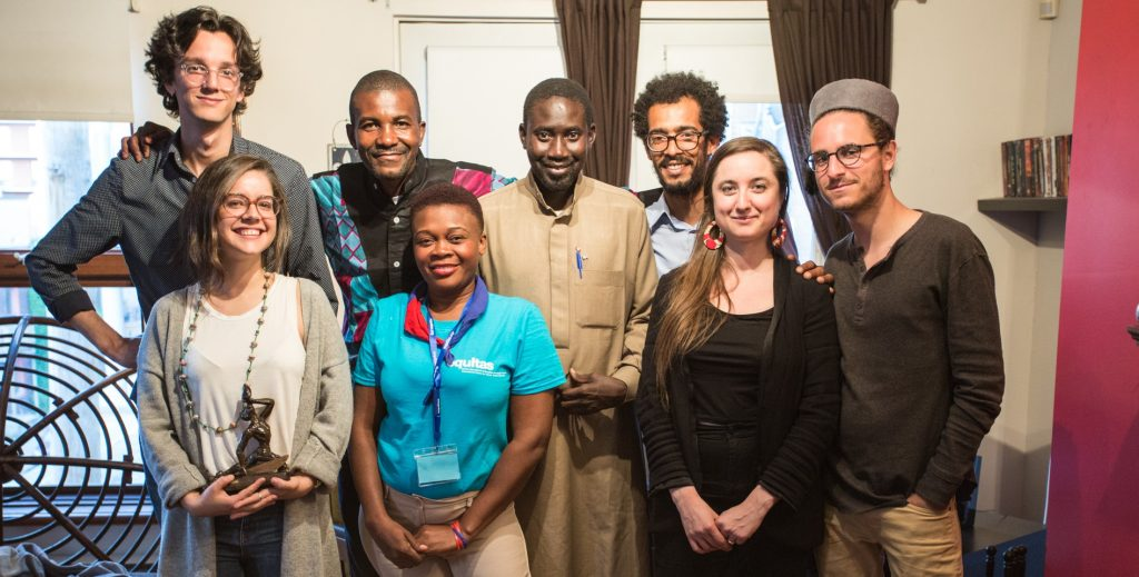 Montrealers and human rights defenders enjoy an evening of intercultural exchages as part of Equitas' International Human Rights Training Program