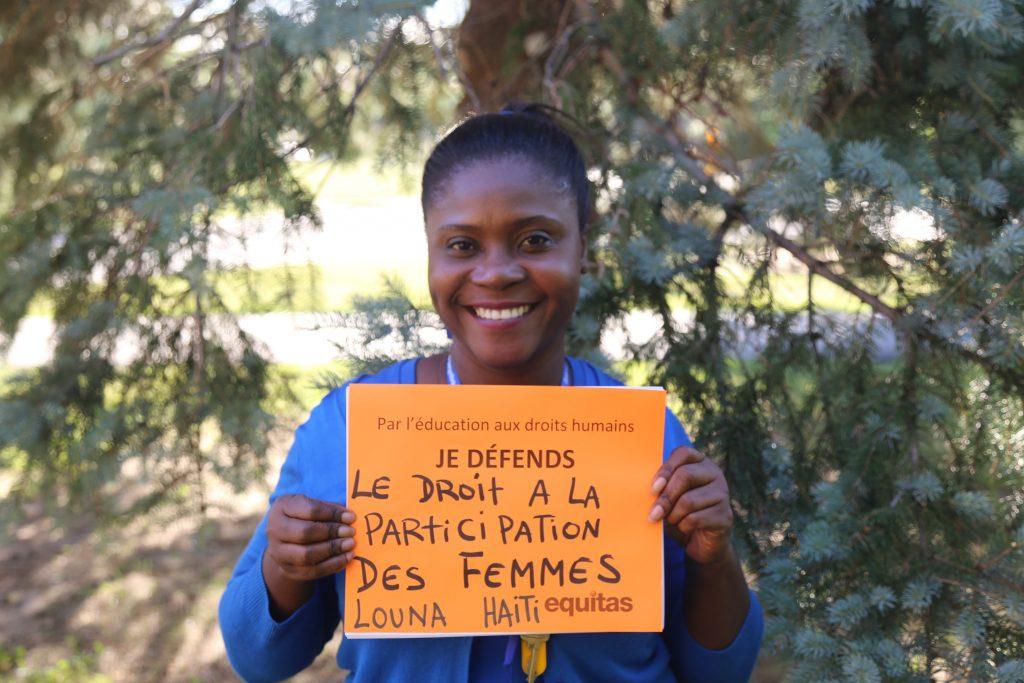 Louna, coordonatrice Equitas du programme de citoyenneté engagée en Haiti