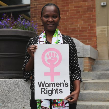 Women's rights defender at Equitas' International Human Rights Training Program in Montreal, Canada