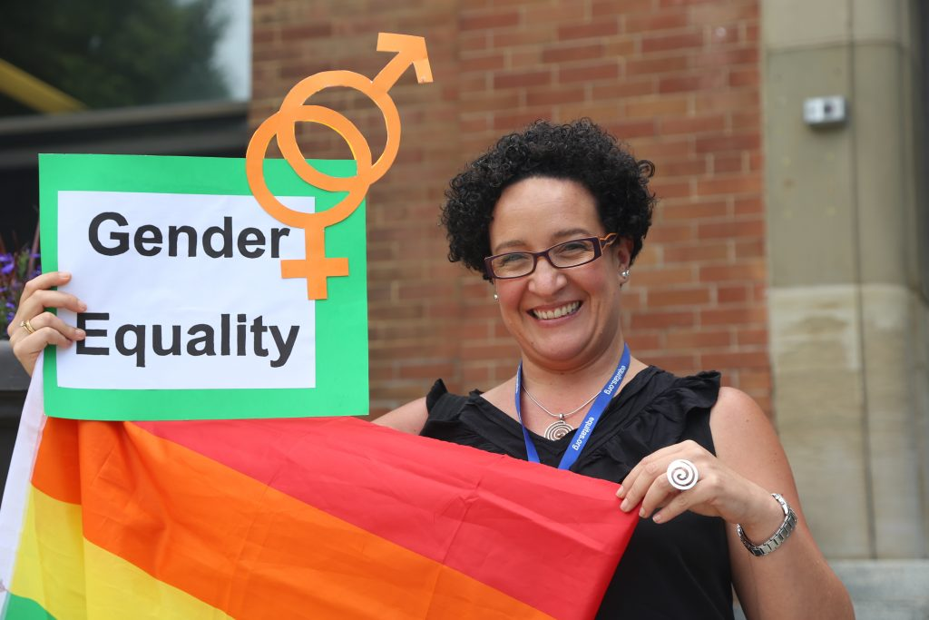 Lorena Yanez (Hivos), LGBTQI rights defender and promoter of gender equality at the 2017 Equitas International human rights training program in Montreal, Canada