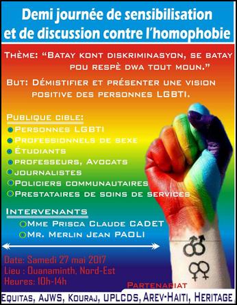 Affiche pour la campagne de promotion de l'égalité et du respect des droits LGBTI en Haiti