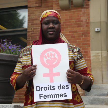 Salie Thiam, défenseuse sénégalaise des droits des femmes lors du Programme international de formation aux droits humains d'Equitas à Montréal, au Canada