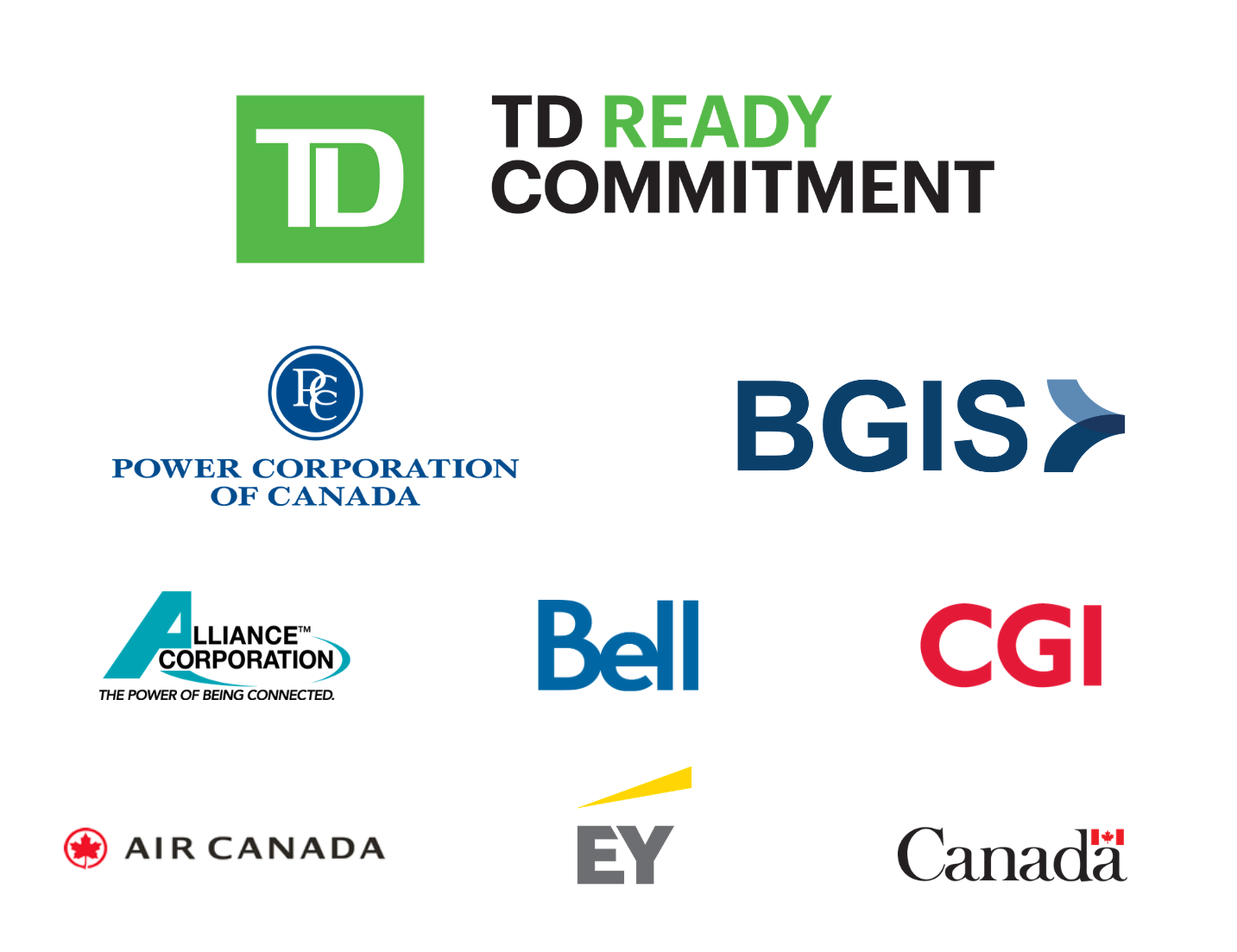 TD Ready Commitment - Power Corporation of Canada - BGIS - Alliance Corporation - Bell - CGI - Air Canada - EY - Global Affairs Canada