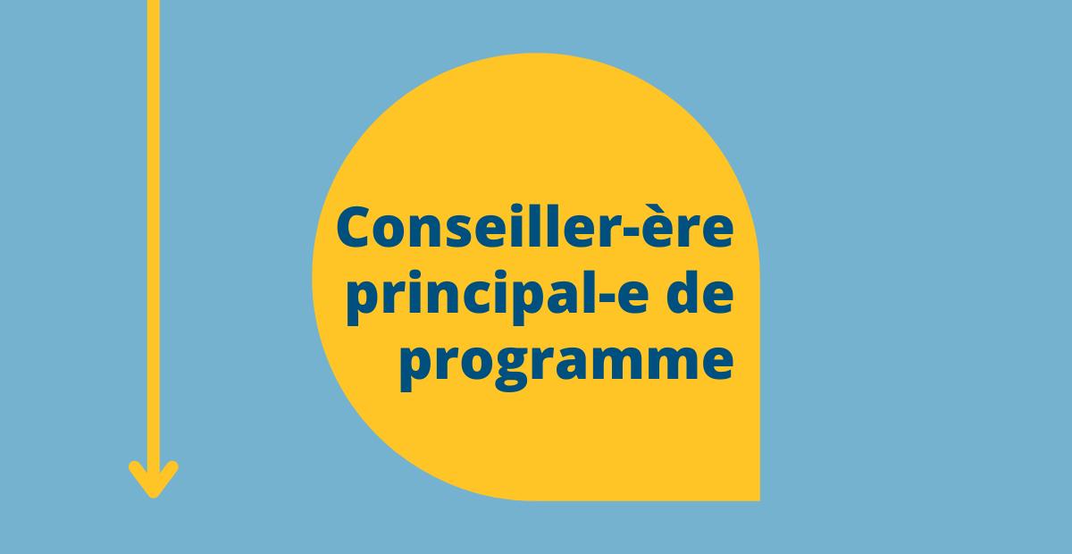 Conseiller-ère principal-e de programme